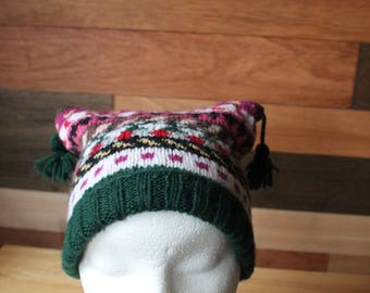 Childs hand knitted fair isle hat