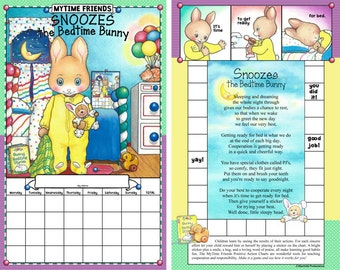 Snoozes the Bedtime Bunny, Bedtime Routine Chart (Chart Only)