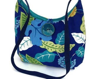 Hobo bag, Blue purse, Fabric handbag, Vegan handbag, Cross body bag, Vegan purse, Fabric crossbody bag, Boho Bag, Hippie bag, Cotton bags