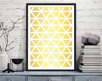 Printable art Digital Prints modern geometricprint  gold wall art printable prints