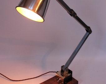 1950s Vintage Memlite Industrial Lamp