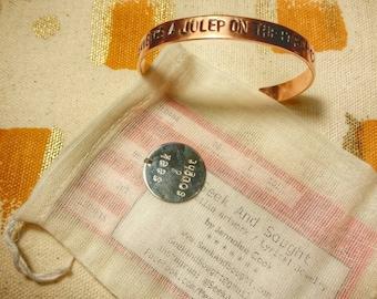 Julep copper stamped bracelet