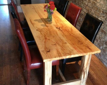 Spalted box elder dining table