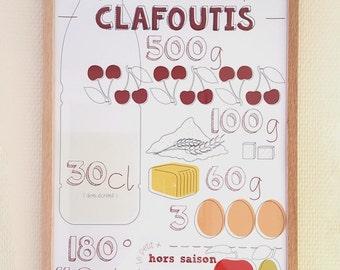 Poster de la recette du clafoutis