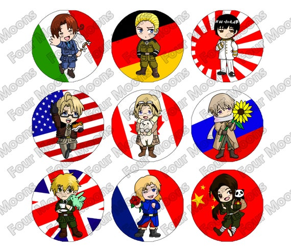 Hetalia axis and allies buttons publicscrutiny Images