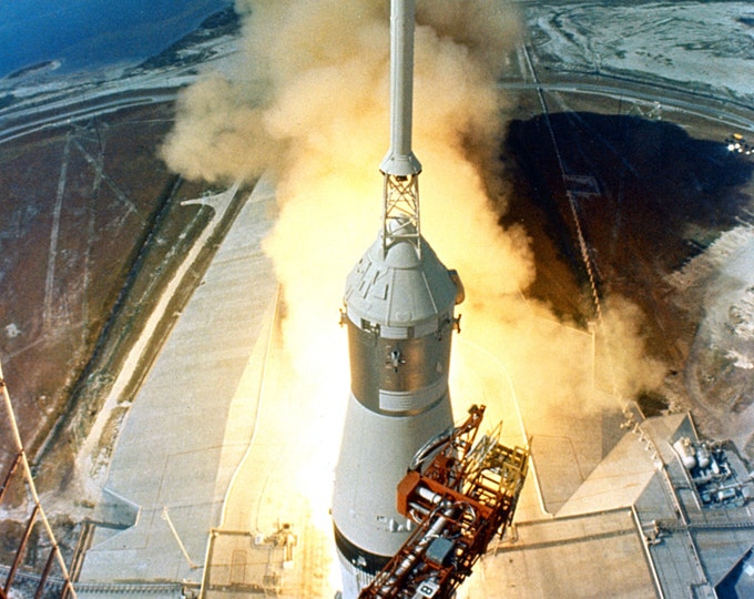 Lift-off of the Apollo 11 Saturn V Spacecraft on July 16, 1969 - 5X7, 8X10 or 11X14 Photo (EP-703)