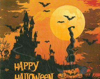 2 happy halloween (259) paper napkins