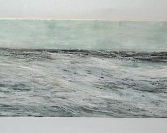 """Original Encaustic Painting - """"WASHED AWAY"""""""