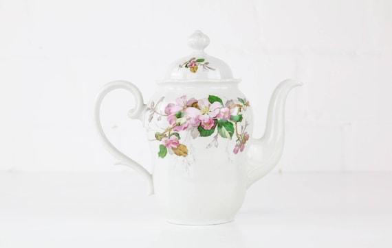 Small vintage teapot with Kirschblütenzweig motif Antique coffee Pot
