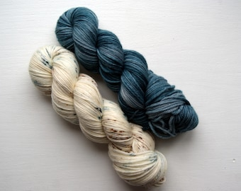 Coastal Set / Speckled / Hand Dyed / DK / Shawl / Merino / Knit / Crochet / In Stock / Ready To Ship