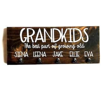 Grandkids picture holder, Grandkids sign, Grandparents sign, Grandparents gift, Grandchildren sign, Grandkids photo holder