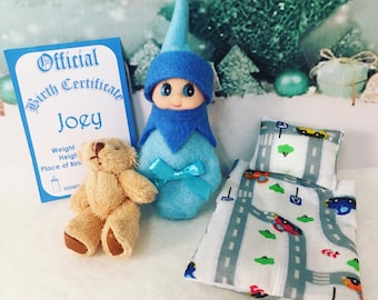 Baby Elf Joey The Shelf Sitter Doll With Accessories