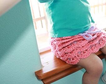 Crochet Ruffle Skirt - Custom Options Available