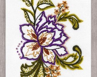 Flower Sketch cross stitch kit by RIOLIS Ref. no.: 1687