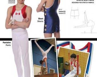 Jalie 2914 - Gymnastics Stirrup Pants and Shorts / 22 Sizes / Child & Adult