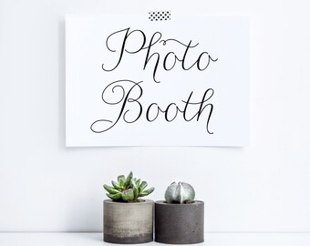 INSTANT DOWNLOAD Wedding Sign - Printable Photo Both Sign - Party Sign - Wedding Sign - Modern Calligraphy Script  - Feminine Script - 5 x 7