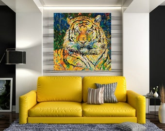 Endangered species, Tiger art, Tiger print, Tiger wall art, Wildlife art, Stripes,  Johno Prascak, Johnos Art Studio