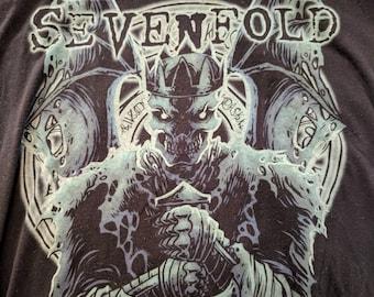 Avenged Sevenfold Heavy Nu Metal Black T-shirt Size XL