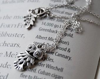 Sweet Little Owl Necklace | Silver Owl Charm Necklace | Cute Owl Pendant | SALE