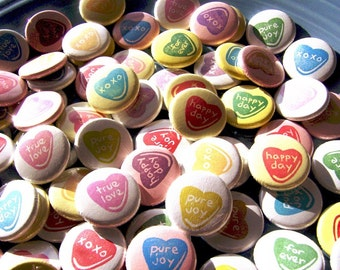 When Sweet Hearts Say I Do-100 1 Inch Pinback Buttons