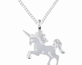 Unicorn Necklace, Silver Gold Plated, Magical Jewelry, Unicorn Party, Unicorn Outfit, Gift for her, Unicorns
