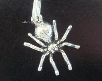 Sterling Silver Spider Charm - 13mm