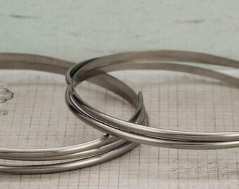 Half Round Nickel Silver Wire - You Pick Gauge 6, 8, 10, 18