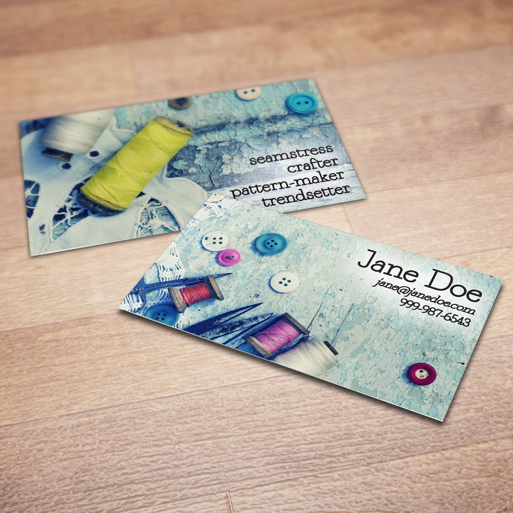 sewing business cards - Ideal.vistalist.co