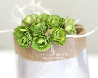 Vintage Style Millinery Moss green paper flowers