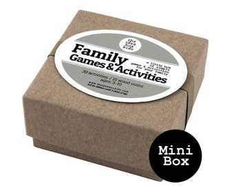 Mini Family Games & Activities Box, Family Game Night, Game Party Favor, Kids Party Favor, Carnival Party Favor, Family Reunion Kid Gift