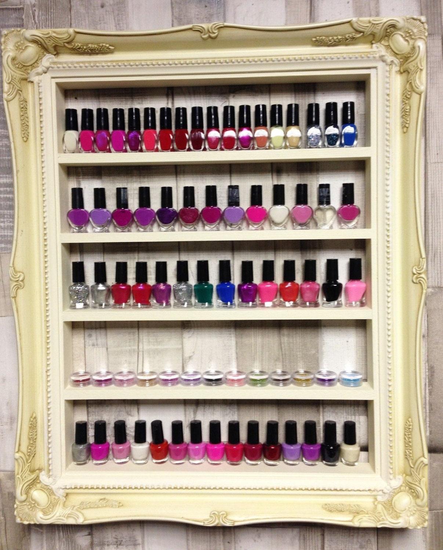 rack de esmalte de uñas... soporte de exhibición del gabinete