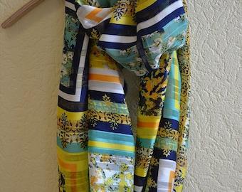 "Silk chiffon infinity scarf  ""JAZMINE"" - Circle scarf for women - circle scarves"