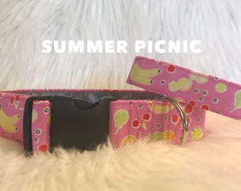 Summer picnic: dog collar