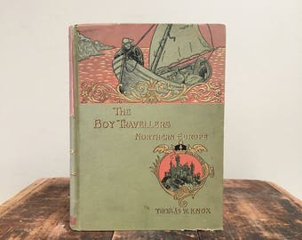 The Boy Travellers Northern Europe, Oversized 19th Century Illustrated Book