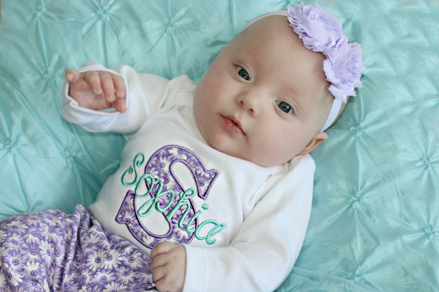 Personalized Baby Girl Coming Home Outfit Newborn Girl Take