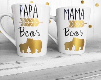Mama and Daddy Bear Coffee Mug Gift Sets - Gifts for Parents - Dads Coffee