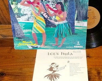 Let's Hula Vintage Vinyl Record and Instruction Book