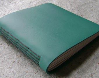 "Leather journal, approx. 5.5""x 5.5"", handmade journal, sketchbook (2599)"