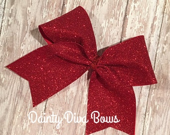 Solid Large Glitter Cheer Bow, 14 Colors, Sparkle Bow, Cheerleading Bow, Cheer Hair Bow, Glitter Bow, Cheerleading Bows, Big Cheer Bows