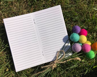 Traveler's Notebook PERSONAL Size Lined Inserts