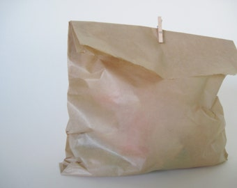 "50 Kraft Wax Sandwich Bag 6""  x 8"" for Party Favors and more"