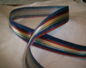 Vintage gorgeous colors striped grosgrain ribbon