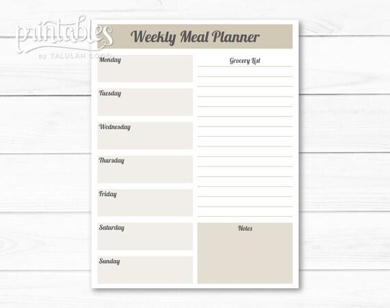 customizable planner template
