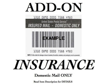 INSURANCE Add-On -DOMESTIC mail ONLY