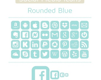Huge Social Media Icon Set - 9 Colors - 1,184 icons