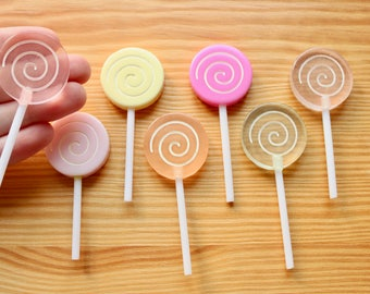 2 pc Round Lollipop Cabochons - Kawaii