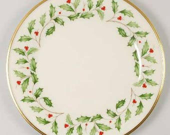 Lenox Holiday Dimension Dinner Plate 10\  Cream with Gold Trim  sc 1 st  Etsy & Lenox holiday   Etsy
