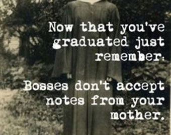 Funny Vintage Graduation Card Humorous Hilarious Retro