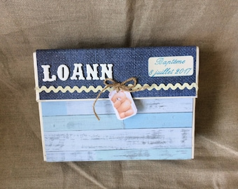 Box sorter to store photos or designs for baptism, birthday, birth...