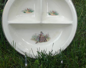 Vintage Fashion Divided Bowl-Dividied Plate-Child's Dish